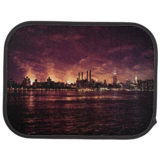 Fourth of July Fireworks behind Manhattan Car Mat
