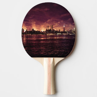 Fourth of July Fireworks behind Manhattan Ping Pong Paddle