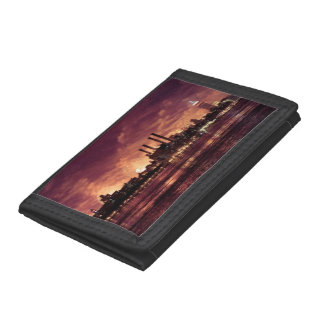Fourth of July Fireworks behind Manhattan Trifold Wallets