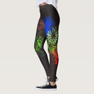 Fourth of July Fireworks Leggings
