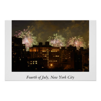 Fourth of July in Manhattan Posters