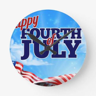 Fourth of July Independence Day Background Clocks
