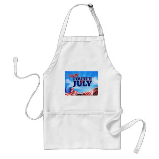 Fourth of July Independence Day Background Standard Apron