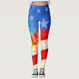 Fourth of July Independence Day Leggings