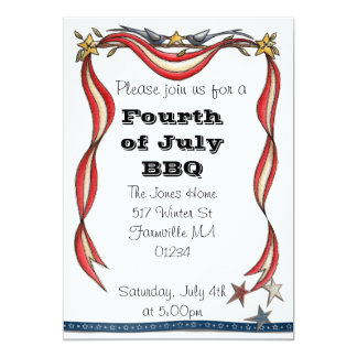 Fourth of July Invite