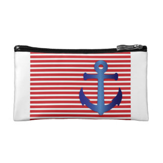 Fourth of July Military Navy Patriotic Wedding Cosmetic Bag