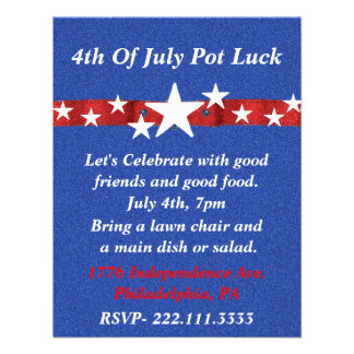 Fourth of July Party Invitation