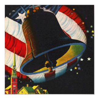 Fourth of July Party Liberty Bell Rings Invitation