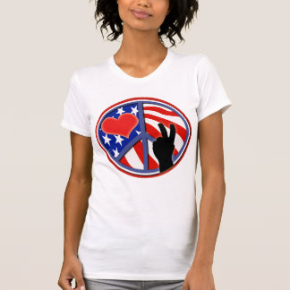 Fourth Of July Peace Love USA T-Shirt
