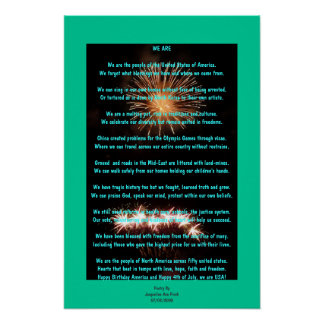 Fourth Of July Poetry Poster