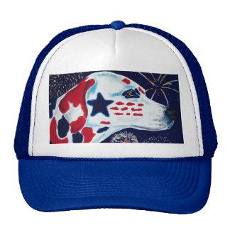 Fourth of July Star Spangled Dalmatian Cap