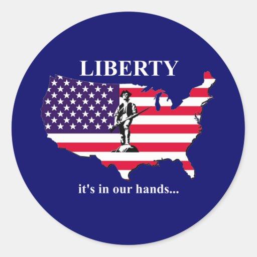 Fourth of July Round Sticker