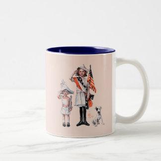 Fourth of July Two-Tone Coffee Mug