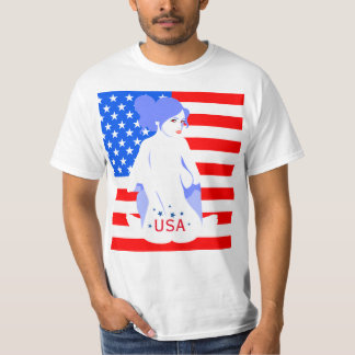 "Fourth of July ""USA"" Tramp Stamp T-shirt"