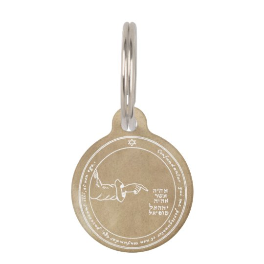 Fourth Pentacle of the Moon Pet ID Tag