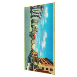 Fourth Street in Santa Rosa, CASanta Rosa, CA Stretched Canvas Prints