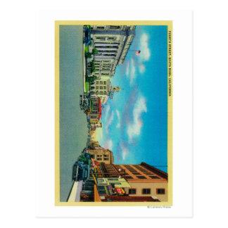 Fourth Street in Santa Rosa, CASanta Rosa, CA Postcard