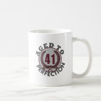 Fourty One and aged to Perfection Birthday Coffee Mugs