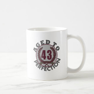 Fourty Three and aged to Perfection Birthday Mugs