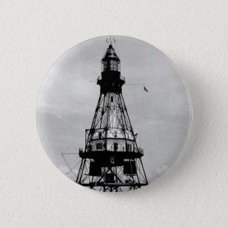 Fowey Rocks Lighthouse 6 Cm Round Badge