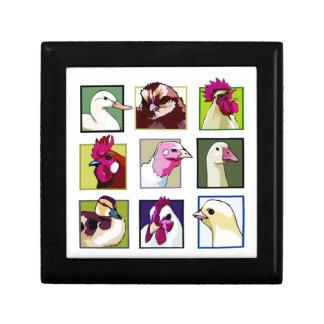 Fowl birds: Fowls (chicken, duck, goose, turkey) Trinket Boxes