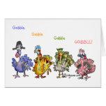 Fowl Language Happy Thanksgiving Turkeys