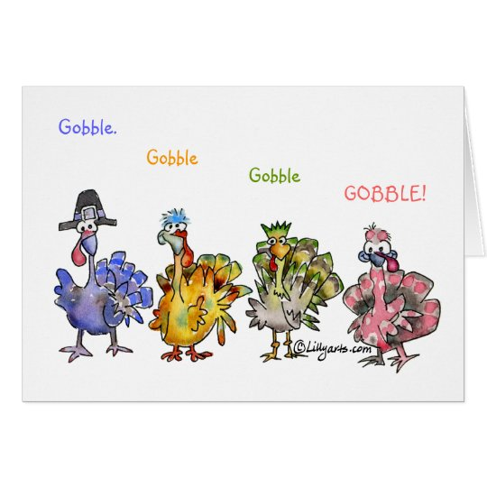 Fowl Language Happy Thanksgiving Turkeys Card