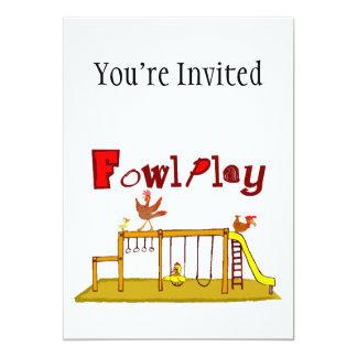 Fowl Play 13 Cm X 18 Cm Invitation Card