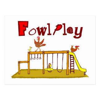 Fowl Play Postcard