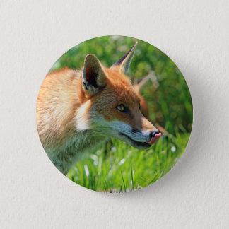 Fox 6 Cm Round Badge