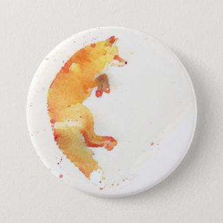 Fox 7.5 Cm Round Badge