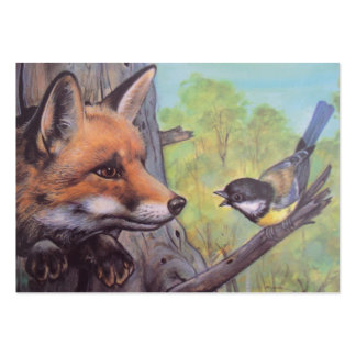 fox and bird pack of chubby business cards