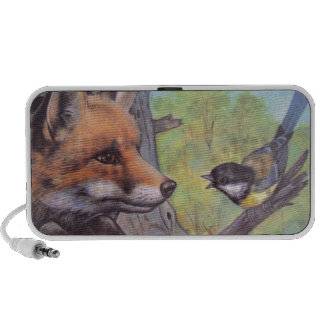 fox and bird portable speakers