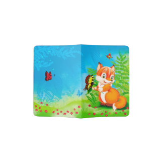 fox and butterfly passport holder