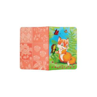 fox and butterfly passport holder