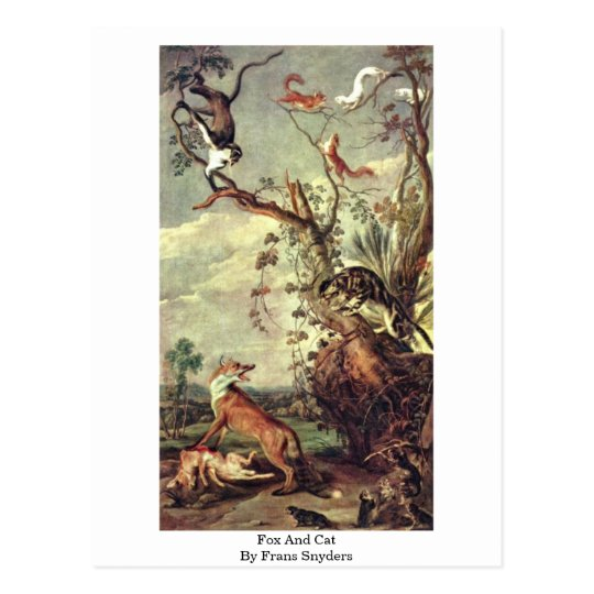Fox And Cat By Frans Snyders Postcard