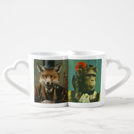 Fox And Chimp Lovers Mugs