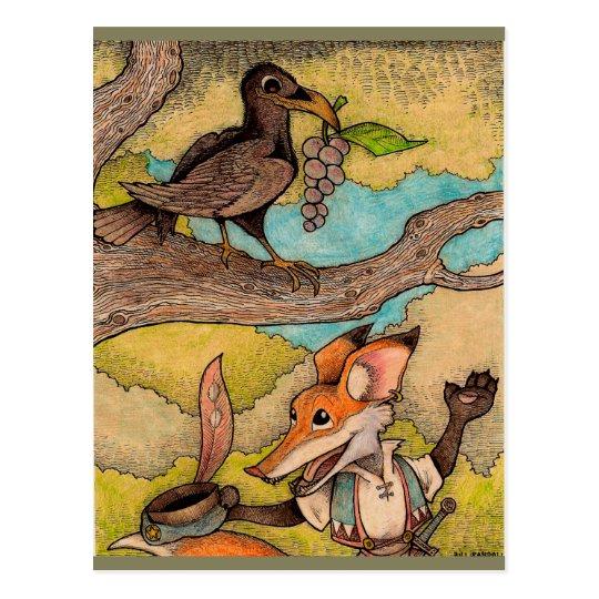 Fox and Crow Postcard