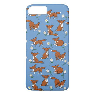 Fox and Daisy Pattern iPhone 7 Plus Case