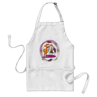 Fox and Grapes: Vin Rouge Adult Apron