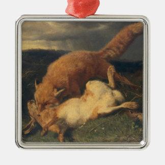 Fox and Hare, 1866 Christmas Ornament