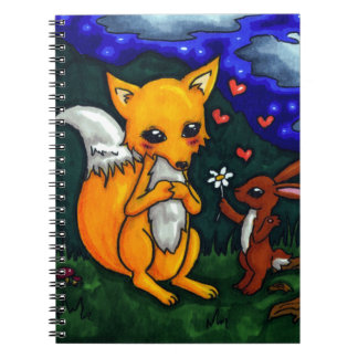 fox and hare love story spiral notebook