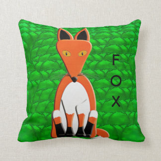 Fox and Red Squirrel Cushion