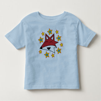 Fox and stars toddlers top t-shirts