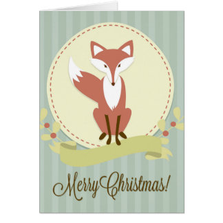 Fox and Wreath Card