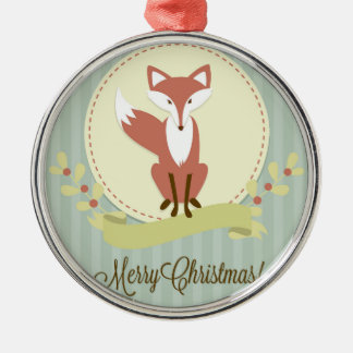 Fox and Wreath Christmas Ornament