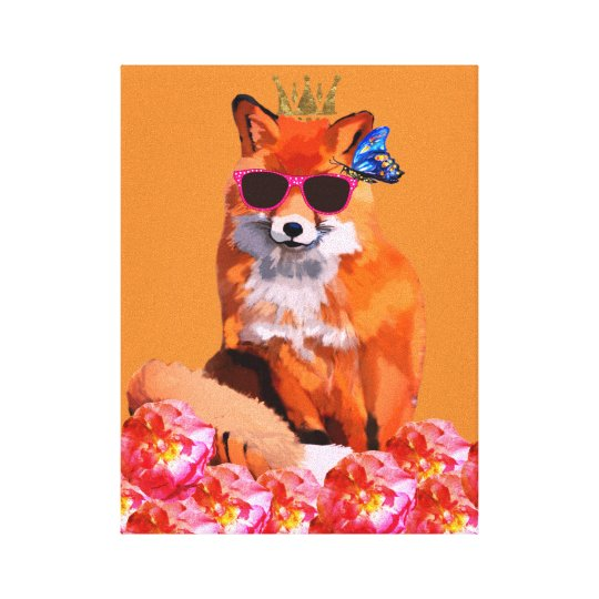 Fox Art Canvas Print