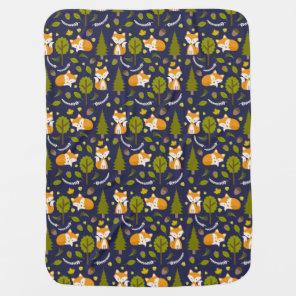Fox Baby Blanket - Boy