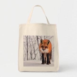 fox bag, fox tote, fox shopper, wildlife gifts tote bag