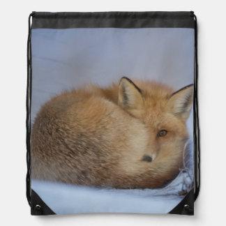 Fox bag, foxy shopper, tote, handbag, wildlife drawstring bag